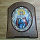 Иконы ручной работы. Ярмарка Мастеров - ручная работа. Купить Икона Святая Праведная Анна финифть. Handmade. Разноцветный