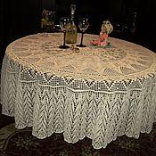 Для дома и интерьера ручной работы. Ярмарка Мастеров - ручная работа Скатерть вязанная. Handmade.
