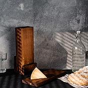 Посуда handmade. Livemaster - original item Cutting boards made of Siberian cedar 4 pcs. on a stand RDN5. Handmade.