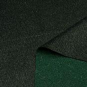 Материалы для творчества ручной работы. Ярмарка Мастеров - ручная работа Драп пальтовый с мохером (глубокий зеленый) (005057). Handmade.