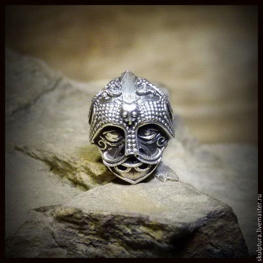 """Для украшений ручной работы. Ярмарка Мастеров - ручная работа. Купить Бусина """"Маска Одина"""" для темляков или браслетов , серебро 925. Handmade."""
