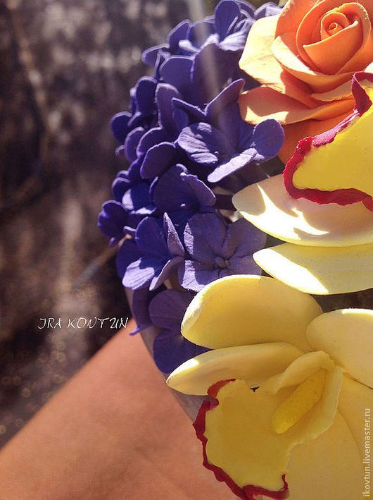 """Интерьерные композиции ручной работы. Ярмарка Мастеров - ручная работа. Купить Интрьерная композиция """"Теплая осень"""". Handmade. Тёмно-фиолетовый"""