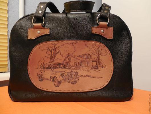 Чемоданы ручной работы. Ярмарка Мастеров - ручная работа. Купить женская дорожная сумка. Handmade. Черный, воск, натуральная кожа