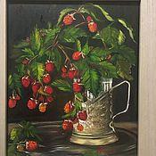 Картины ручной работы. Ярмарка Мастеров - ручная работа Лесная Малина, масло , холст на оргалите. Handmade.