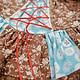 Одежда для девочек, ручной работы. Платье кантри коричневое лоскутное розы горошки хлопок 3 4 г. Camilla Reynolds. Интернет-магазин Ярмарка Мастеров.