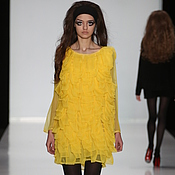 Одежда ручной работы. Ярмарка Мастеров - ручная работа Платье желтое с MBFWRussia. Handmade.