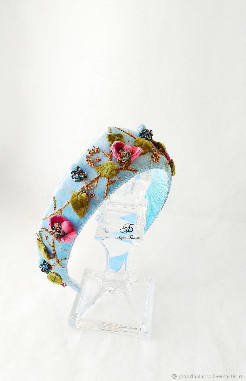 Velvet Beauty band with spikes, Headband, Ekaterinburg,  Фото №1