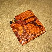Сумки и аксессуары handmade. Livemaster - original item Slim cigarette case for short cigarettes with a lighter. Handmade.