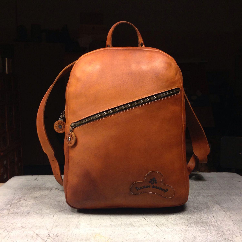 Купить кожаный рыжий рюкзак молодежный рюкзак крепкий купить москва