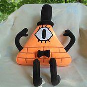Мягкие игрушки ручной работы. Ярмарка Мастеров - ручная работа Билл Шифр оранжевый. Handmade.