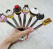 Посуда ручной работы. Ярмарка Мастеров - ручная работа Вкусные чайные ложечки с декором. Handmade.