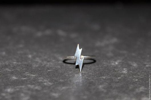 Кольца ручной работы. Ярмарка Мастеров - ручная работа. Купить Кольцо Молния. Handmade. Серебряный, кольцо из серебра