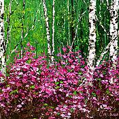 Картины и панно handmade. Livemaster - original item Oil painting rosemary blooms. Handmade.