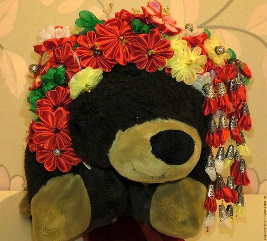 """Цветы ручной работы. Ярмарка Мастеров - ручная работа. Купить Ободок в технике канзаши """" Хризантемы"""". Handmade. Ободок для волос"""