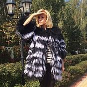 """Одежда ручной работы. Ярмарка Мастеров - ручная работа Шубка из ламы """" жизнь она такая...полосатая """". Handmade."""