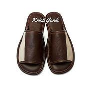 Обувь ручной работы. Ярмарка Мастеров - ручная работа Мужские  кожаные тапочки М-1. Handmade.