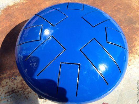 Ударные инструменты ручной работы. Ярмарка Мастеров - ручная работа. Купить Глюкофон Blue (Глянцевый). Handmade. Синий, сталь