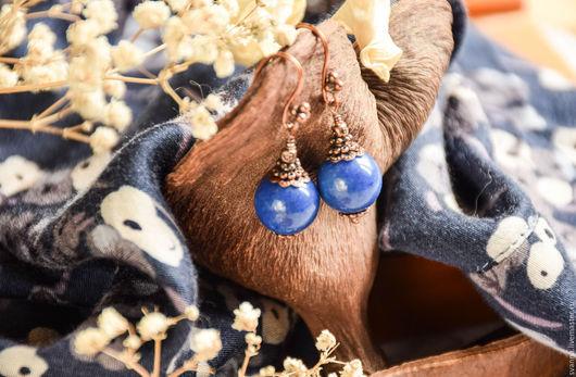 """Серьги ручной работы. Ярмарка Мастеров - ручная работа. Купить Серьги """"Индиго"""". Handmade. Синий, длинные серьги"""