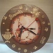 """Часы классические ручной работы. Ярмарка Мастеров - ручная работа Часы классические """"Вкусная любовь"""". Handmade."""