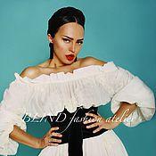 Платья ручной работы. Ярмарка Мастеров - ручная работа Платье из батиста 00151. Handmade.