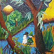 """Картины и панно ручной работы. Ярмарка Мастеров - ручная работа """"Муми-тролль и Снусмумрик"""". Handmade."""