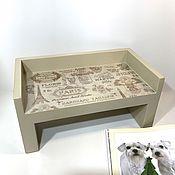 Для домашних животных, ручной работы. Ярмарка Мастеров - ручная работа Подставки под миску с бортиком. Handmade.