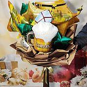 Подарки на 23 февраля ручной работы. Ярмарка Мастеров - ручная работа Мужской букет. Handmade.