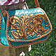 Women's bag 'Classic flower' - turquoise, Classic Bag, Krasnodar,  Фото №1