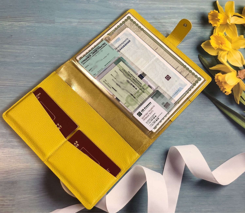 Органайзер для документов из натуральной кожи с застёжкой формат В5, Папки, Москва, Фото №1