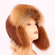 Аксессуары ручной работы. Ярмарка Мастеров - ручная работа Женская  шапка ушанка из  лисы с помпонами. Handmade.