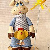 Куклы и игрушки ручной работы. Ярмарка Мастеров - ручная работа Хрюшка и цыплёнок. Handmade.