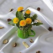 Цветы и флористика ручной работы. Ярмарка Мастеров - ручная работа Лето в лейке. Handmade.