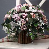 Подарки к праздникам ручной работы. Ярмарка Мастеров - ручная работа Зимний розовый букет. Handmade.