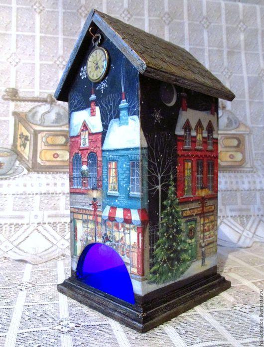 Чайный домик, купить домик, домик, чайная шкатулка, Ярмарка мастеров, ручная работа, Handmade, купить домик, подарок к Новому году, Новый год, Рождество, новогодний сувенир,