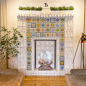Для дома и интерьера handmade. Livemaster - original item Bio-fireplace with tiles in the tavern. Handmade.