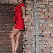 Одежда ручной работы. Ярмарка Мастеров - ручная работа Платье красное Бабочки. Handmade.