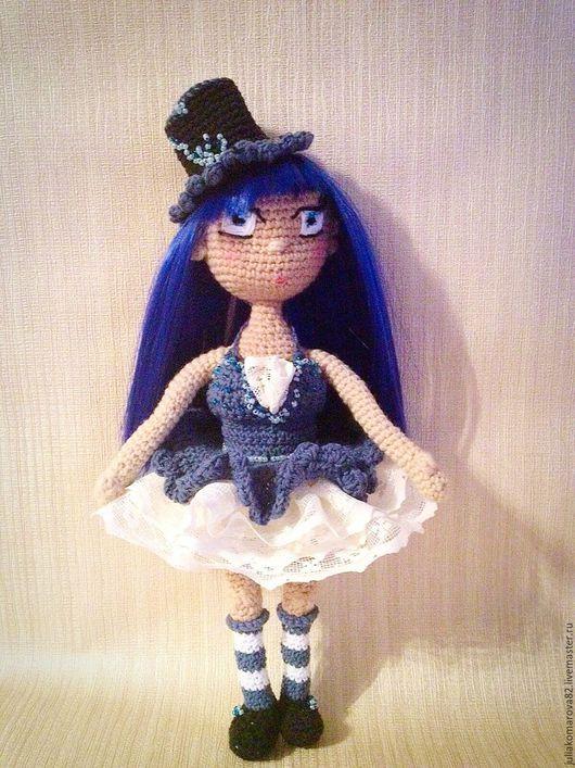Портретные куклы ручной работы. Ярмарка Мастеров - ручная работа. Купить Кукла Циркачка. Handmade. Тёмно-синий, кукла в подарок