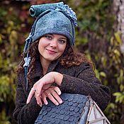 """Аксессуары ручной работы. Ярмарка Мастеров - ручная работа шапка валяная , шляпа женская ,шапочка шерстяная  """" Фрея"""". Handmade."""