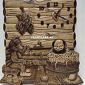 """Часы ручной работы. Ярмарка Мастеров - ручная работа ЧАСЫ """"БАННИК И КОТ"""". Handmade."""