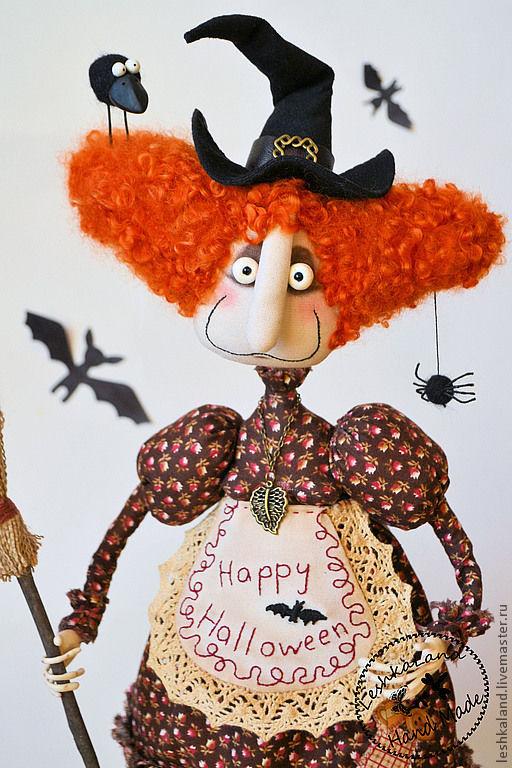 Коллекционные куклы ручной работы. Ярмарка Мастеров - ручная работа. Купить Плющинда и Барбарис. Handmade. Яркий, колдунья, трикотаж