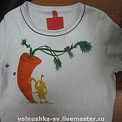 Одежда ручной работы. Ярмарка Мастеров - ручная работа Зайка на майке. Handmade.