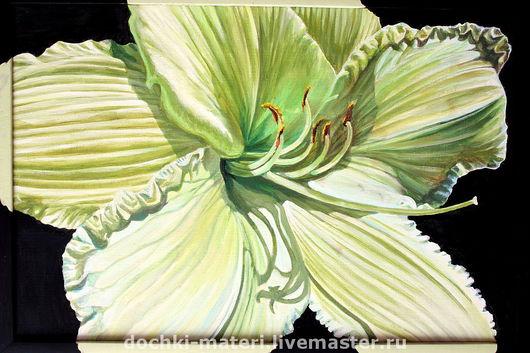 Картины цветов ручной работы. Ярмарка Мастеров - ручная работа. Купить Лилия земная. Handmade. Лилия, цветок, цветы
