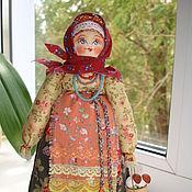"""Куклы и игрушки ручной работы. Ярмарка Мастеров - ручная работа """"Грибочки на жареху"""" русская кукла на деревянной ложке. Handmade."""