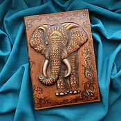 "Канцелярские товары handmade. Livemaster - original item Notebook ""INDIAN ELEPHANT"". Handmade."