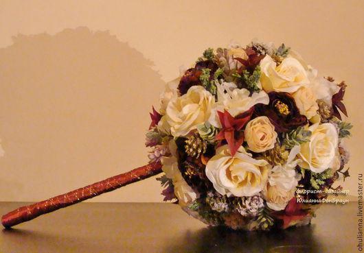 """Свадебные цветы ручной работы. Ярмарка Мастеров - ручная работа. Купить букет для невесты """"зима пришла"""". Handmade. Свадьба, невеста"""