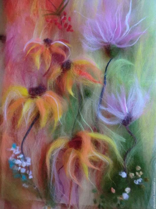 Картины цветов ручной работы. Ярмарка Мастеров - ручная работа. Купить цветы осени. Handmade. Оранжевый, подарок, Осенние цвета