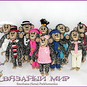 Куклы и игрушки ручной работы. Ярмарка Мастеров - ручная работа Монохромные субъекты обезьяньей наружности. Handmade.
