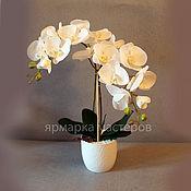 Цветы и флористика ручной работы. Ярмарка Мастеров - ручная работа Белая орхидея. Handmade.