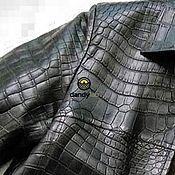 Куртки ручной работы. Ярмарка Мастеров - ручная работа Куртка из натуральной кожи крокодила. Handmade.