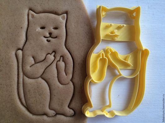 Кухня ручной работы. Ярмарка Мастеров - ручная работа. Купить Форма для пряников и печенья Кот с факами. Handmade. Разноцветный